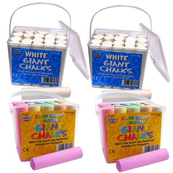 Jumbo Chalk Multi Pack Pavement Chalks