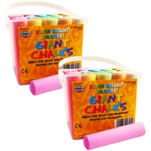 Jumbo Coloured Chalks 40 pcs