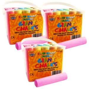Jumbo Coloured Chalks 60 pcs