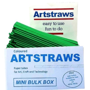 ARTSTRAWS GREEN PAPER STRAWS 4mm