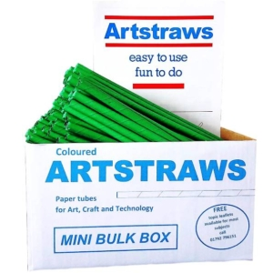 Artstraws Green Paper Straws 6mm