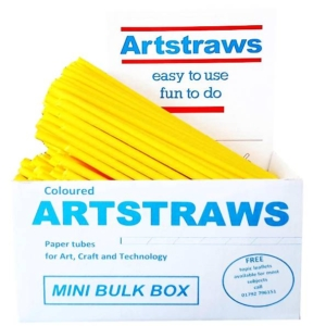 Artstraws Yellow Paper Straws 6mm