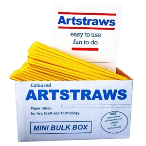 ARTSTRAWS YELLOW PAPER STRAWS 4mm