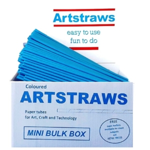 ARTSTRAWS BLUE PAPER STRAWS 4mm