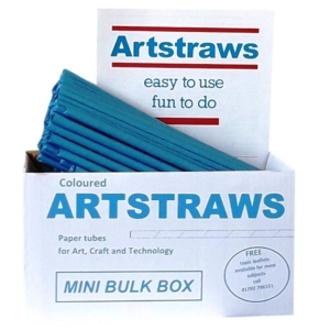 Artstraws Blue Paper Straws 6mm