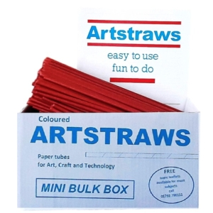 ARTSTRAWS RED PAPER STRAWS 4mm