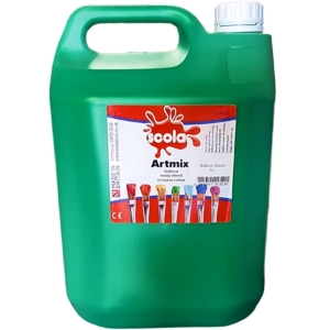 Artmix 5 litre Container Ready Mix Craft Poster Paint Bright Green