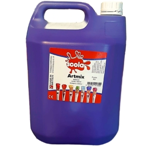 Artmix 5 litre Container Ready Mix Craft Poster Paint Purple