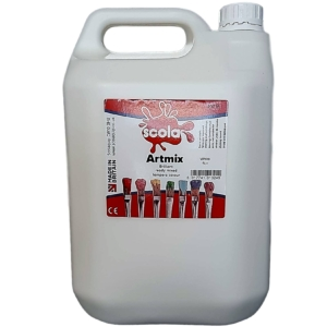 Artmix 5 litre Container Ready Mix Craft Poster Paint White